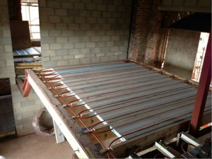 Underfloor heating for barn conversion