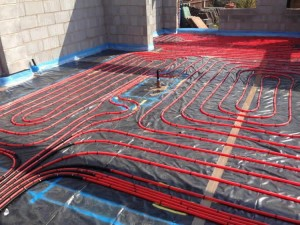 Underfloor heating for house extension Lymm